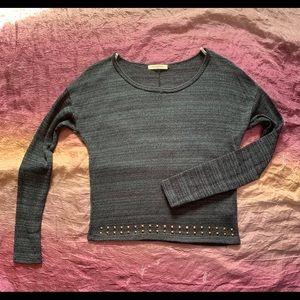 tea n rose light knit embellished blouse